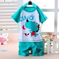 100 Cotton Baby Boys Girls Clothing Set Children Shirt Pants Kids Cartoon Clothes Casual 14