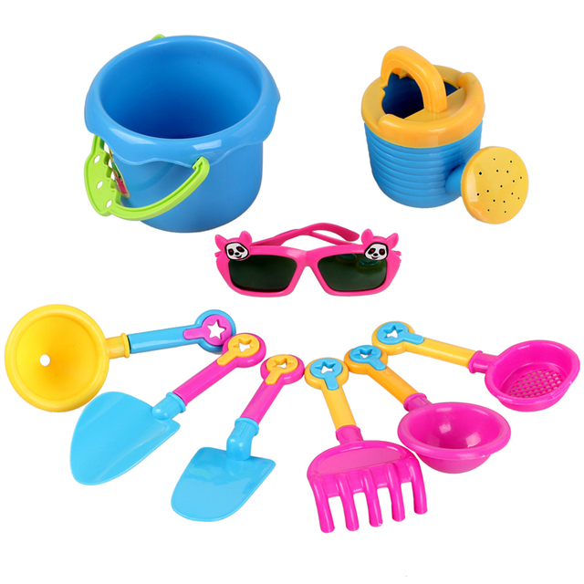 4 beach swimming toys 9 piece set beach swimming toys with small sunglasses