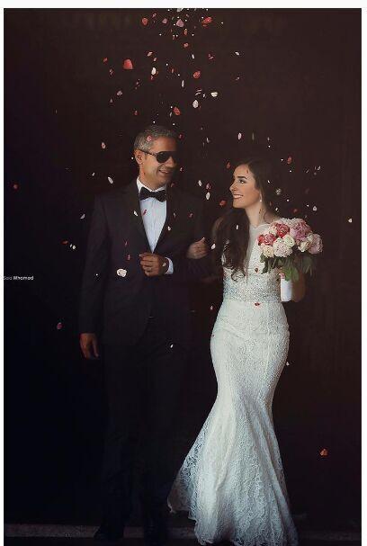 Сказал Mhamad Полное Кружева Русалка Свадебные Платья 2016 Pluning V-образным Вырезом И Обратно Полный Кружева Невесты Платья Развертки Поезд