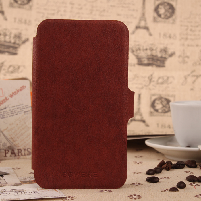 Original Brand Cell Phone Shell Protection Cover Flip PU Leather Case For THL W8 W8S With Stand & Card Slot Function BOWEIKE(China (Mainland))