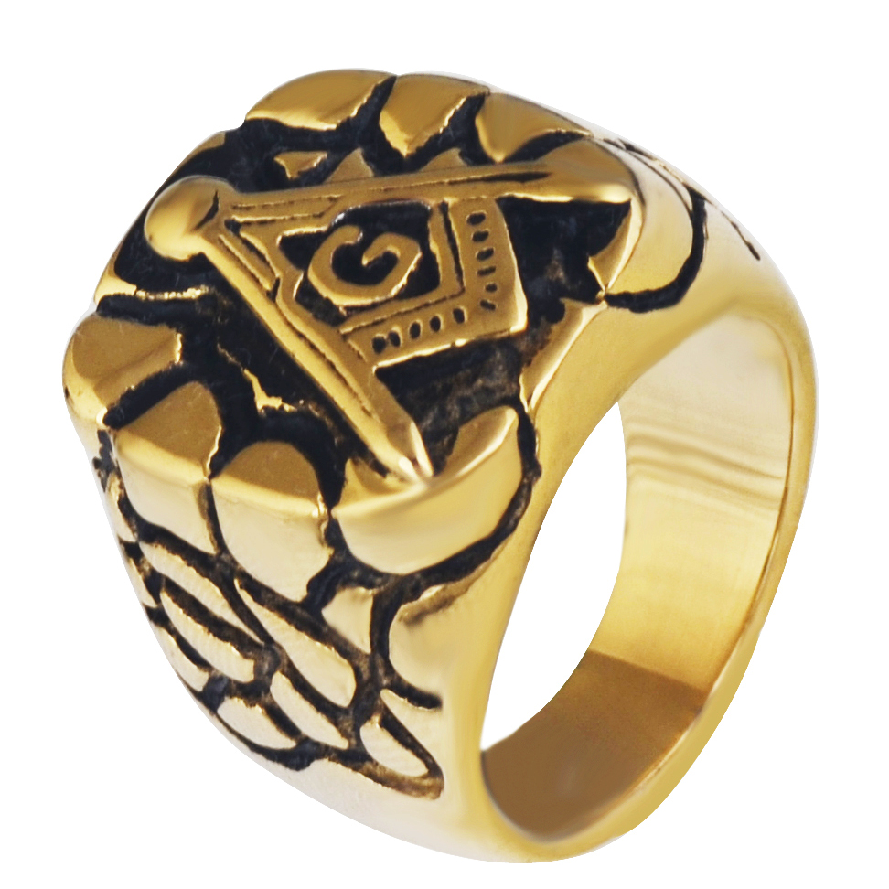 Masons Ring With Anchor