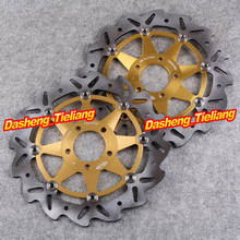 Front Brake Disc Rotors For Kawasaki ZXR GPZ ZZR 250 600 Z750 Ninja ZX6R ZX12R Gold Color, Motorcycle Spare Parts(China (Mainland))