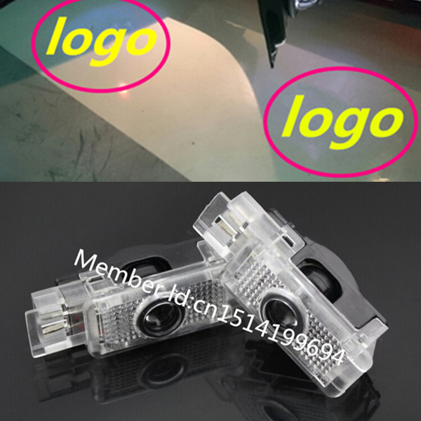 Free shipping, 2 x Laser LED Door courtesy Shadow Projector Light For W203 C Class SLK CLK SLR Mercedes Benz logo(China (Mainland))
