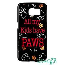 Fit for iphone 4 4s 5 5s 5c se 6 6s plus ipod touch 4/5/6 back skins cellphone case cover Paws Paw Print Cat Dog Cute Pet