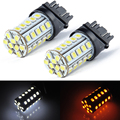 2PCS T20 W21W 3157 39 SMD White Yellow Color Switching LED Car Lights Great Brightness For