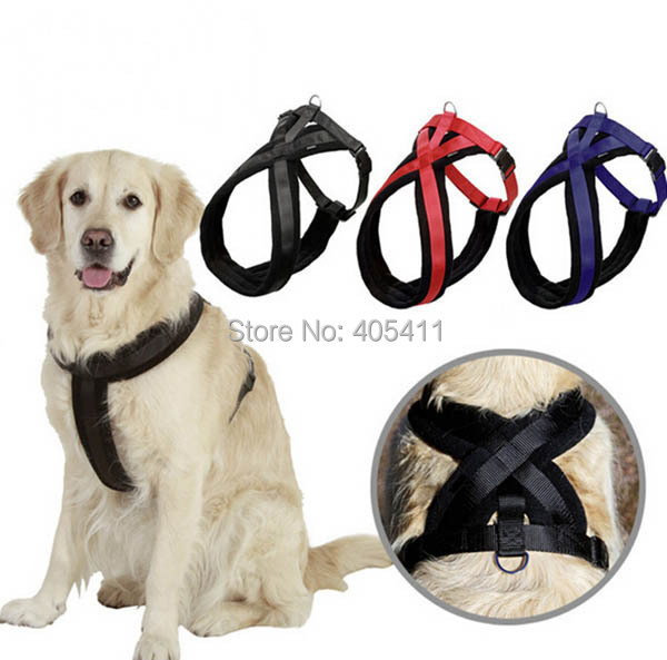 Top Quality big dog thicking harness large doggy outdoor harnesses pets supplies dogs vest 1pcs/lot(China (Mainland))