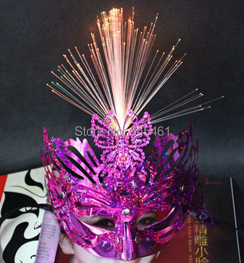 10XUpper Half Face mask series Led Flash laser Crown Masks Good quality and fast shipping party prom masks wholesale party masks(China (Mainland))