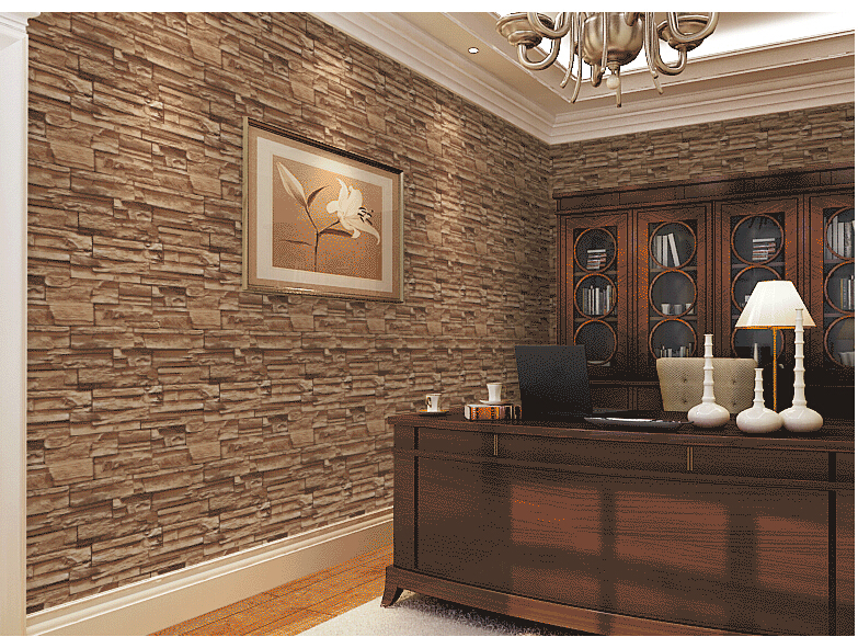 3d dining room stone brick design wallcovering tv for 3d wallpaper for room wall