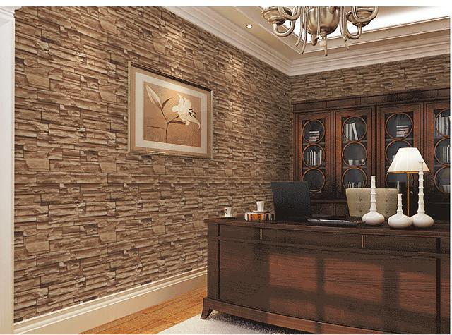Woonkamer stenen behang - Bakstenen muur woonkamer ...