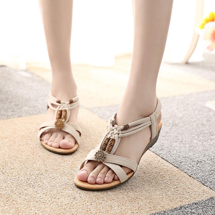 2016 women sandals Summer Fashion White Shoes Flat Heel Flip Gladiator Brief Herringbone Flip-flop Sandals Flat