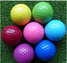 The manufacturer direct sale the golf balls with many colors that golf ball is very great and well received(China (Mainland))