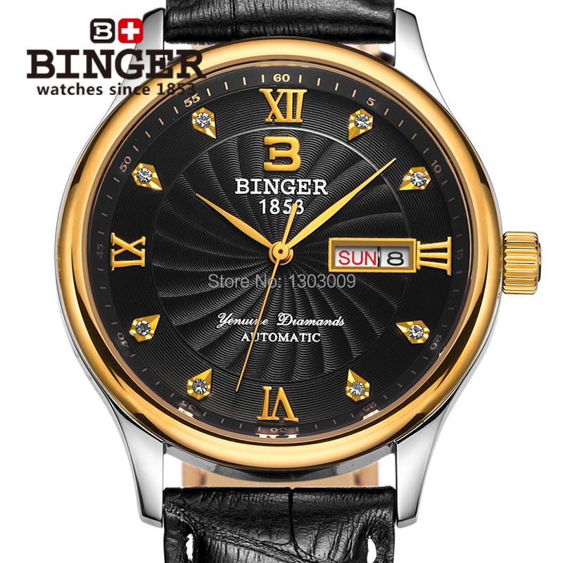 genuine binger automatic mechanical watches s
