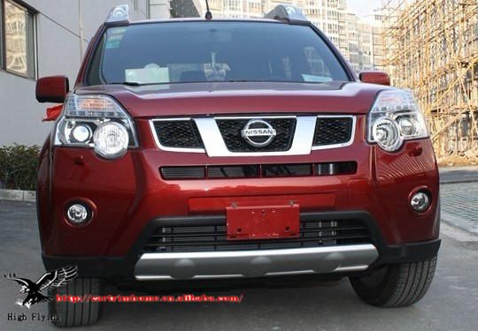 High Quality ABS Bumper Guard/Bumper Protector/Bull Bar/Skid Plate,Front +Rear 2pcs For Nissan X-Trail 2012 2013<br><br>Aliexpress