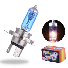 Buy 2PCS H4 12V 55W 4000K Xenon H4 Super White Halogen Car Light Source Bulbs Headlights Auto Lamp Parking Cars for $2.00 in AliExpress store