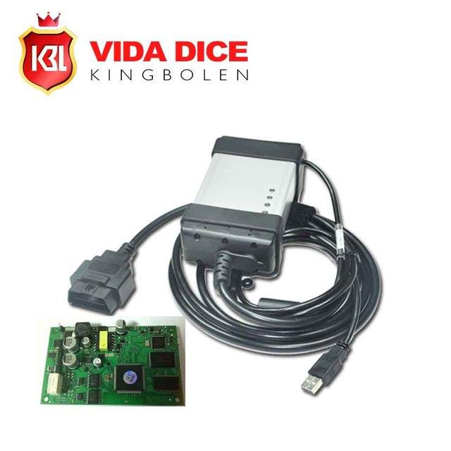 Full Chip For Volvo Vida Dice Newest 2014D Diagnostic Tool Multi-Language For Volvo Dice Pro Vida Dice Green Board free shipping