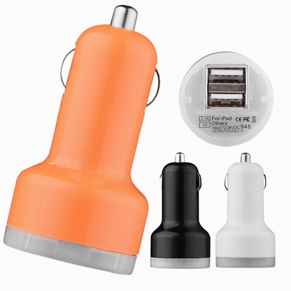 original dual USB car charger For iphone 4 5 6 samsung lenovo xiaomi mobile cell phone charging all Smartphone tablet laptop(China (Mainland))