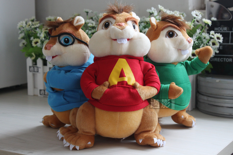 product Alvin and the Chipmunks plush toy Alvin SimonTheodoreBrittanyJeanetteEleanor toy baby toy birthday gift d753