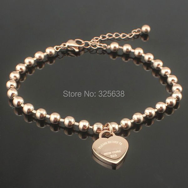 fashion plated gold stainless steel chain bracelets - JMY Fashion Jewelry ( min$10 store)