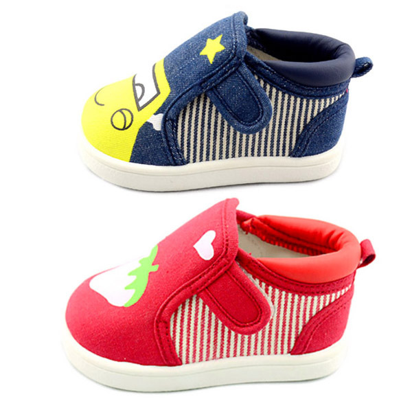 Children shoes cartoon baby canvas shoes children toddler shoes soft outsole 0466