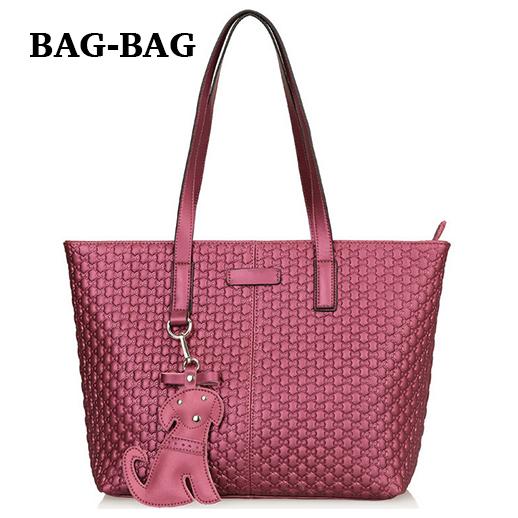 Large Shopper VINTAGE CUTE dog Women Cow Leather shoulder bag Retro Cowhide handbag Fashion Shopping Girl R068 - BAG-BAG store