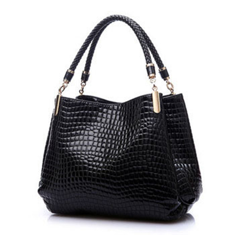 Designer Leather Women Shoulder Bags Ladies Handbags High Quality Bolsos Carteras Mujer Marca Crocodile Totes Bag(China (Mainland))