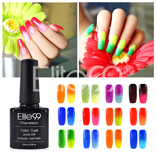 Elite99 UV Gel Nail Polish Temperature Color Change Nail Gel Magic Unique Manicure Kits Nail Polish Pick 1 10ml Gel Varnishes(China (Mainland))