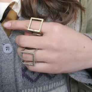 Free shipping,R081 ,New arrive punk style hollow magic cube finger ring, fashion jewelry wholesale