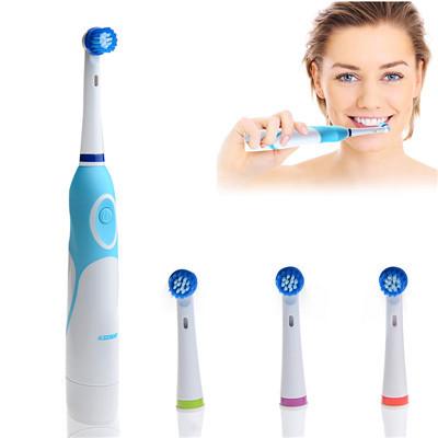 Работающий от аккумулятор электрическая зубная щетка с 4 насадки гигиена полости рта товары для здоровья