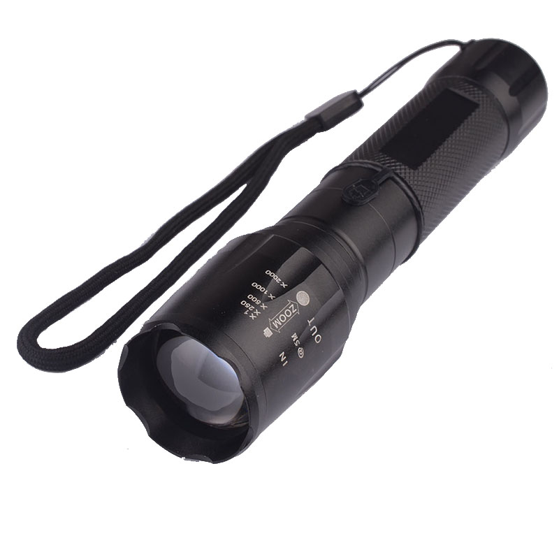Powerful 5 Switch Mode LED Police Strobe SOS Zoom Pocket Portable Flashlights Outdoor Camping Spotlights Rescue Fishing Torch(China (Mainland))