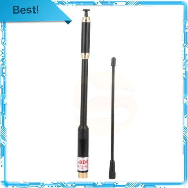 Free shipping AL-800 SMA-male dual band Antenna High Gain telescopic aerial for KG-UV6D UV-3R UV-985 PX-2R TH-UV3R(China (Mainland))
