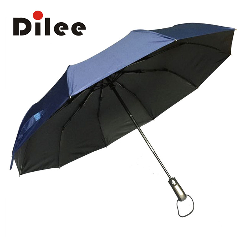 DL16936 Hot Sale Unique Design Automatic Umbrella 55-61cm Radius Pongee Umbrella Three-folding Guarda Chuva Rain Gear(China (Mainland))