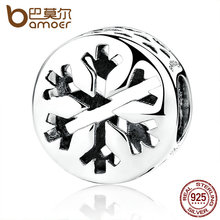 Buy BAMOER 2017 Christmas Gift 100% 925 Sterling Silver Snowflake Charms fit Women Bracelets Beads & Jewelry Makings Jewelry SCC069 for $4.92 in AliExpress store
