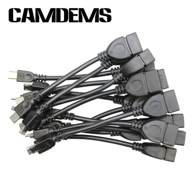 CAMDEMS Wholesale 10pcs/lot Good Quality  Black Micro USB OTG Cable 10cm Mini USB Cable For Samsung galaxy S3 i9100 i9300#27