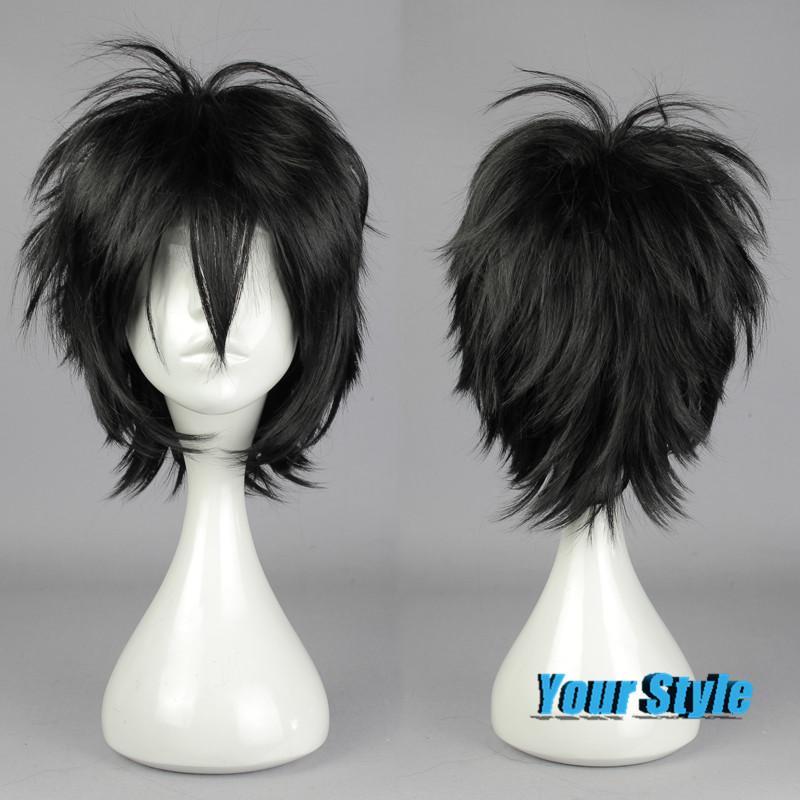 2016 New Black Short Pixie Cut Wigs Haircuts  Anime Seraph Of The End / Owari no Seraph Yuichiro Hyakuya Anime Cosplay Wig <br><br>Aliexpress