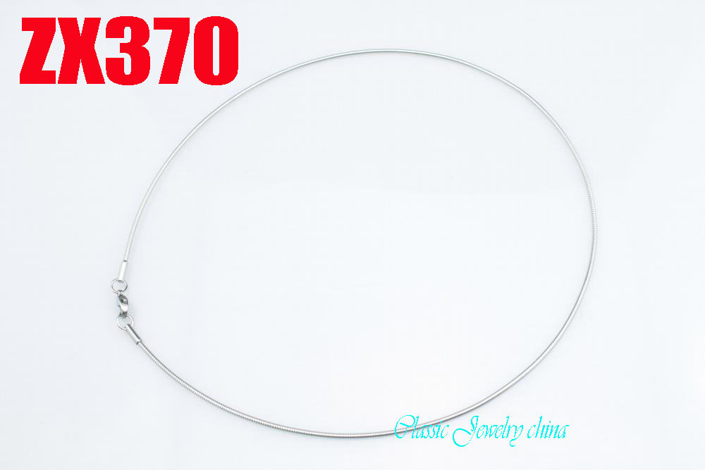 316L stainless steel collar 1.5mm cable torques chain Jewelry women male lady fashion chains ZX370<br><br>Aliexpress