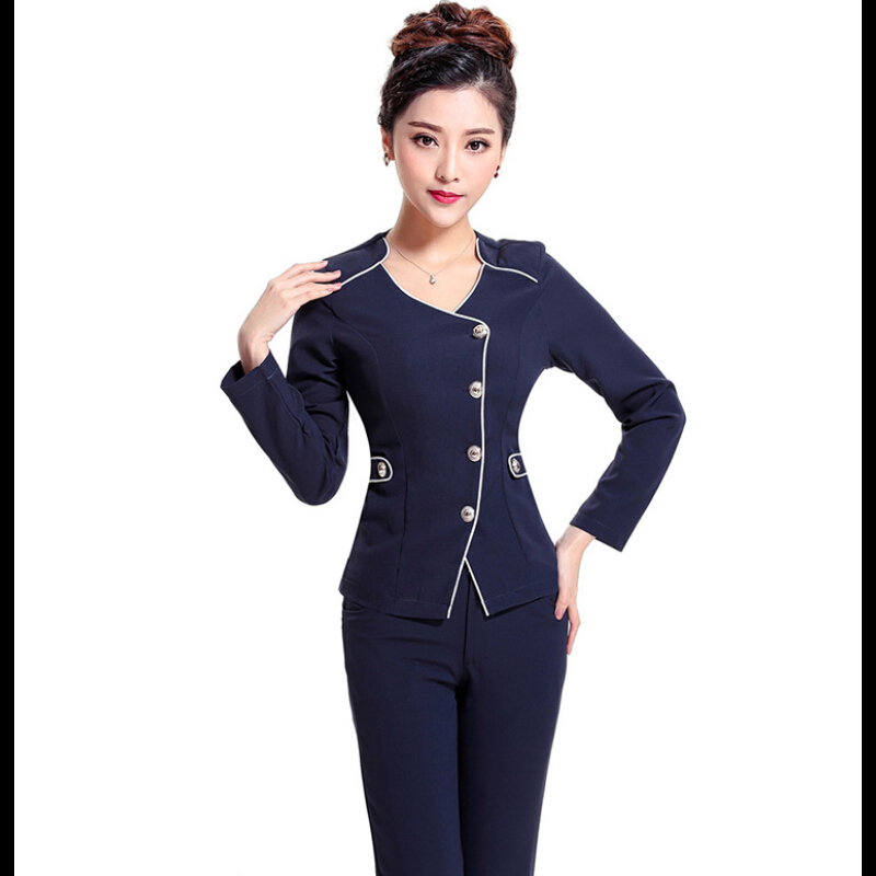 Simple HighQualityNoveltyPantSuitsGrayBlazersforWomenBusinessSuits