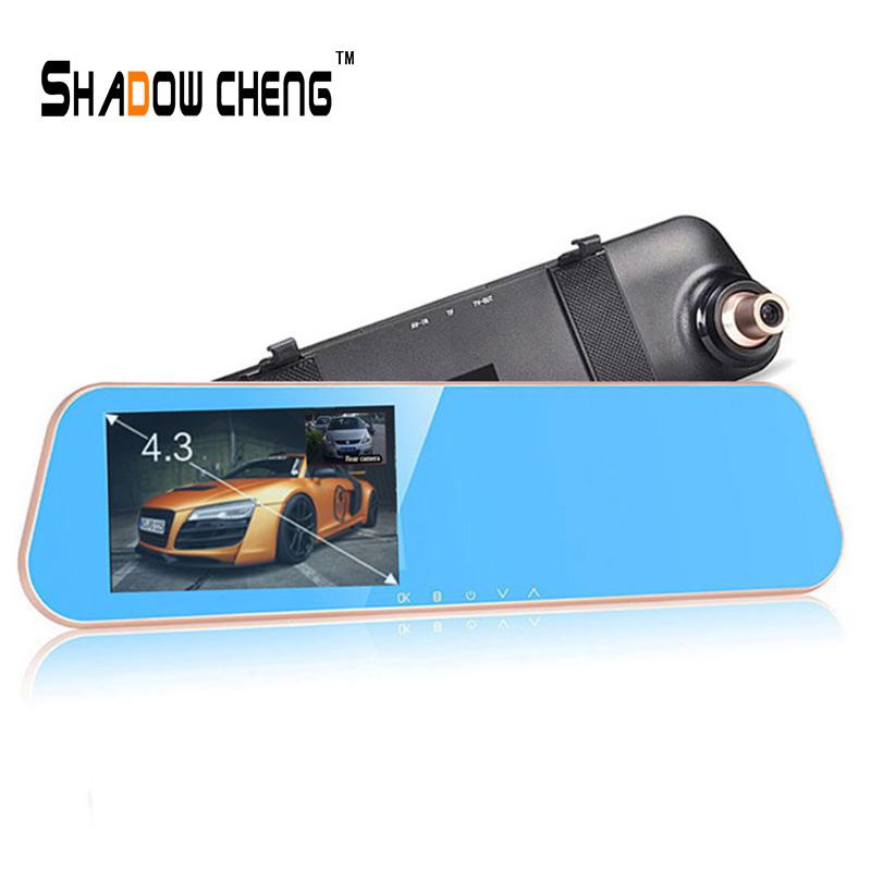 Original Car Camera DVRs Video Recorder DVR Registrar With Rearview Mirror Dashcam Camcorder With Rear View Camera Car Charger(China (Mainland))