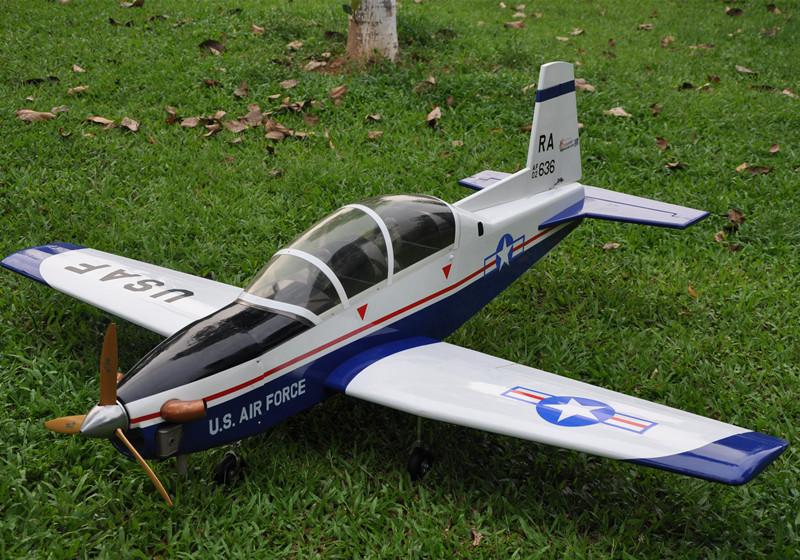 "Sport Scale Plane T-6A Texan II RC Airplane Gas 8 CH 30cc 78.7"" Balsa Wood Model(China (Mainland))"