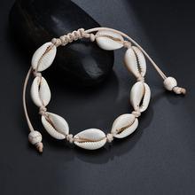 Jisensp Fashion Bohemian Beach Seashell Bead Rope Chain Bracelet Jewelry for Woman Girls Handmade Shell Bracelet Party Gifts(China)