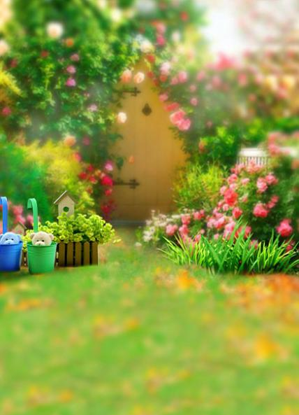 jardim quintal grande:200 CM * 150 CM fundos grandes flores família jardim quintal formar