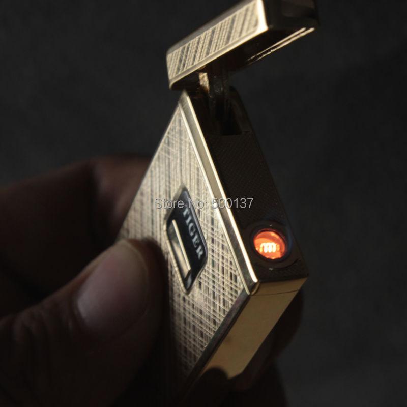 ถูก ใหม่ในกล่องอิเล็กทรอนิกส์เซ็นเซอร์สัมผัสเหนี่ยวนำW Indproofซิการ์บุหรี่ไฟแช็กก๊าซ