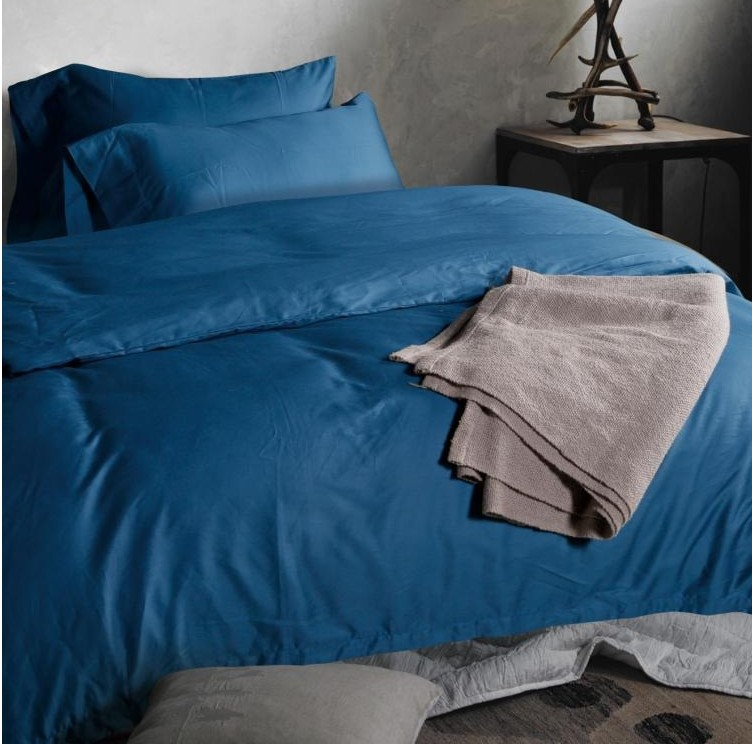 luxury 100 egyptian cotton light blue bedding set king. Black Bedroom Furniture Sets. Home Design Ideas