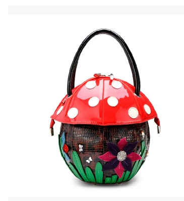 Authentic Japanese lovely female female bag Small pure and fresh and candy color personality mushrooms with the bag<br><br>Aliexpress