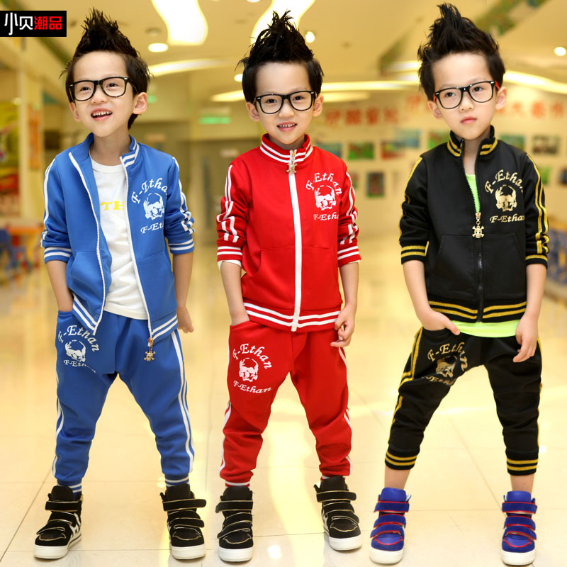 Free shipping 2013 t1320 bakham children fall clothing male children fall sportswear collection(China (Mainland))