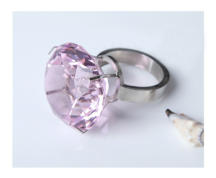 Free shipping,Customize,High quality K9 Crystal wedding gifts,40mm Pink Crystal diamond With 45mm Ring For Valentine's Gifts(China (Mainland))