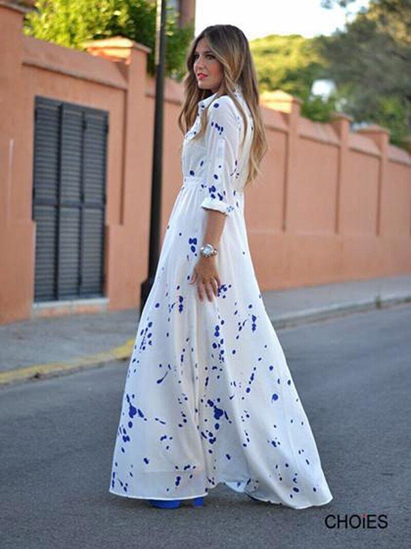 White Long Sleeve Maxi Dresses For Women Ivo Hoogveld