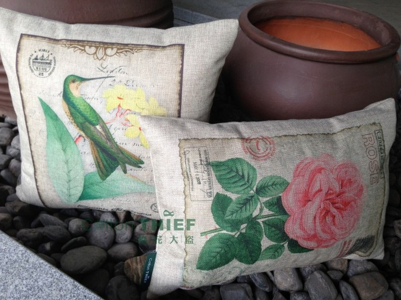 Thick cotton pillow cushion sofa pillow encasement containing core roses cat in a bird print special wholesale outlet(China (Mainland))
