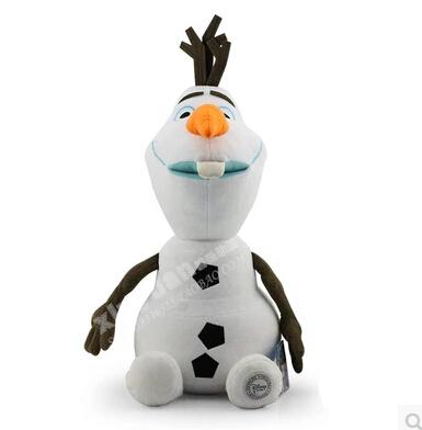Disney Toys Hot Sale Designer Cute Cartoon Toys White Olaf Stuffed Baby Toys White 50 Cm Plus Toys Gift Ty005(China (Mainland))