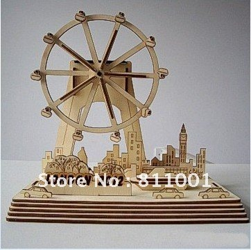 New arrivals .up to 20% off christmas gifts 3D puzzle Solar London eye London Olympic souvenirs Educational toys(China (Mainland))