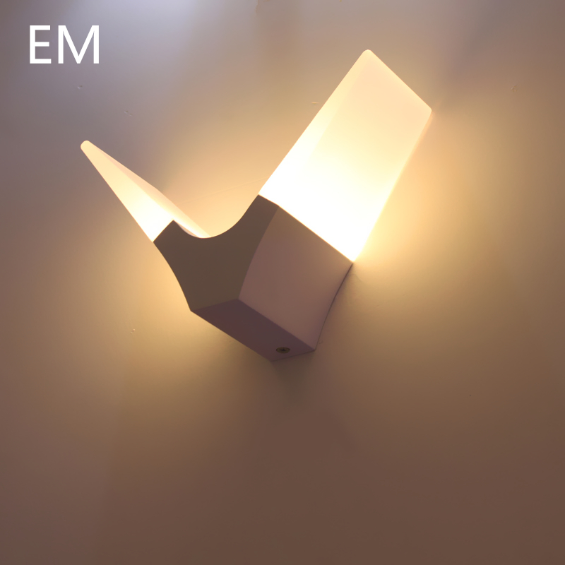 1pcs 6w indirect led wall lamp contemporary lighting bedroom beside wall light led modern wall sconces
